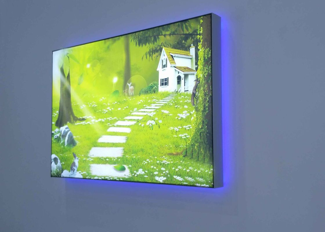 Single Side Light Weight 12CM Width Fabric LED Light Box Illuminated For Wall Background