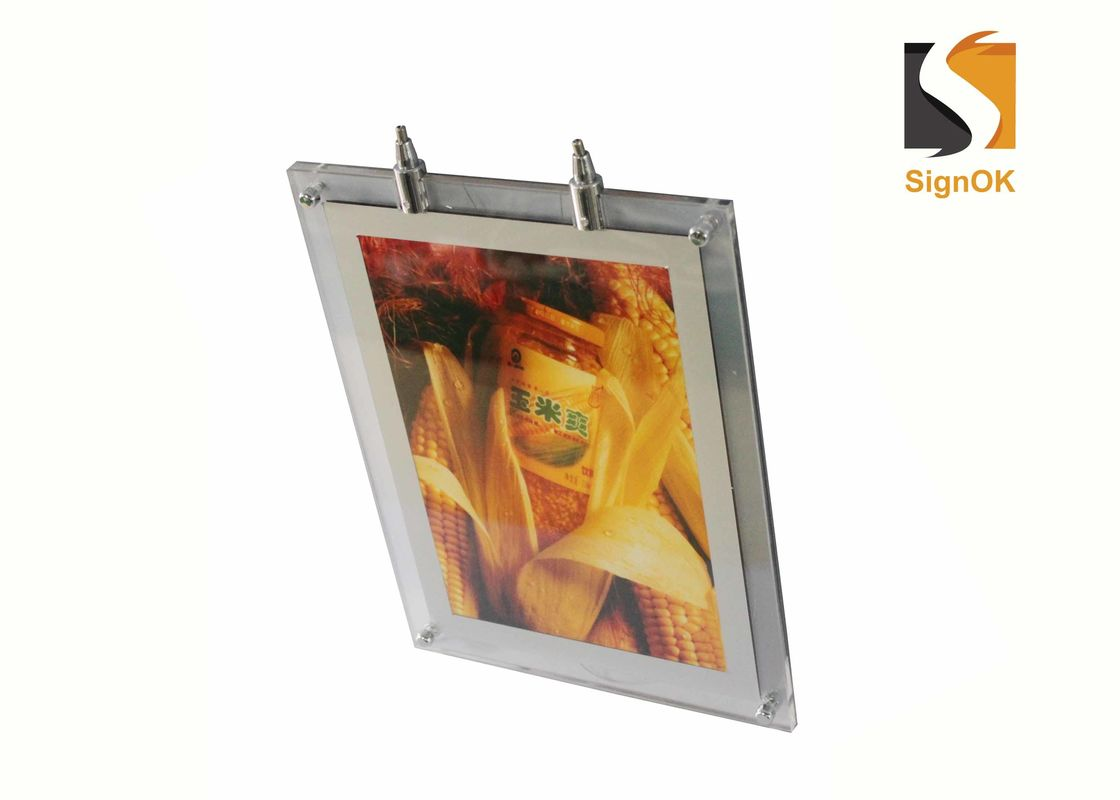 Ceiling Suspension A2 Crystal LED Light Box Double Sides Haning Signs