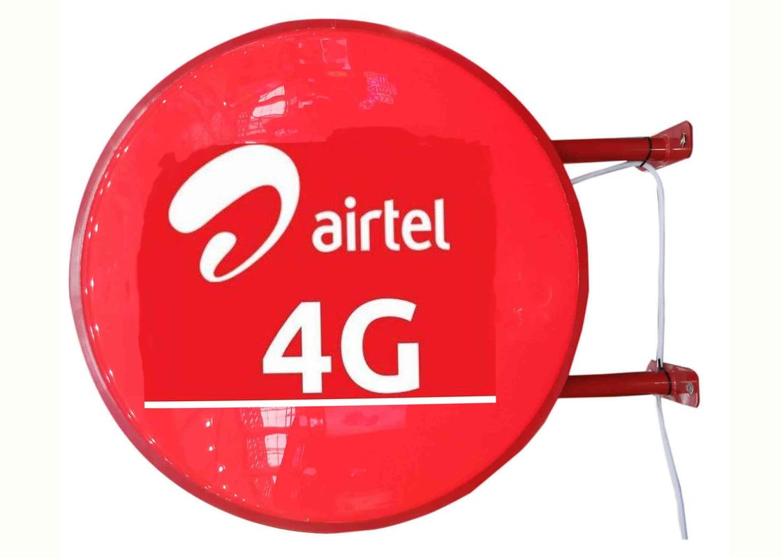 Airtel 4G Sign Vacuum Forming Light Box , Telecom Operators Aficia Vodafone Store Sign