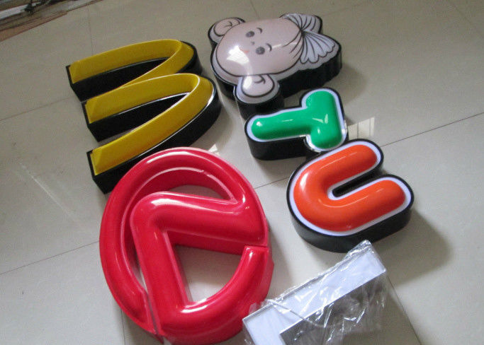 Illuminated Channel Letters Metal Returns With Formed Face / Outdoor