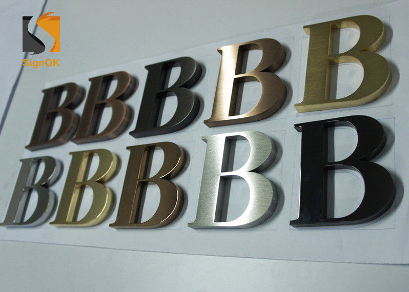 3D Architectural - grade Stainless Steel Letters For Wall Shop Signs