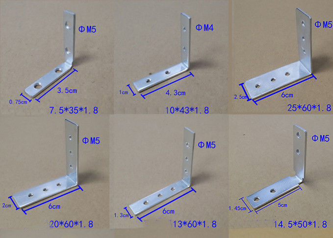 Zinc Plated Corner Fixing Set Iron For Vertical Top Profiles And Drawer Profiles Jointed Truss Bracket