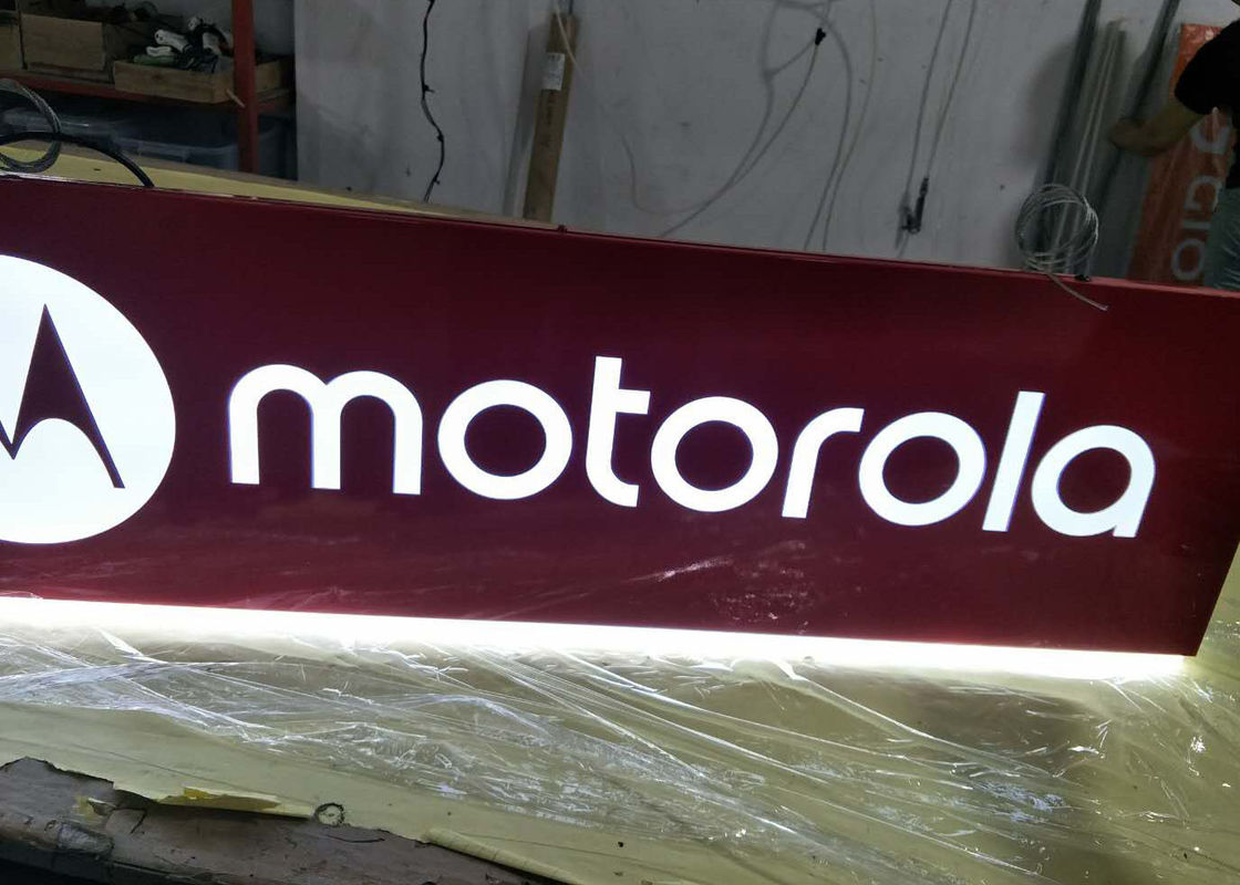 Motorola Rectangular Shaped Sign Double Sides For Cellpone Store Custom Size