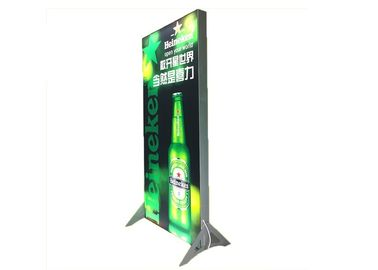 China Lightweight 8cm Led Frameless Fabric Light Box With Floor Stand Single Side factory